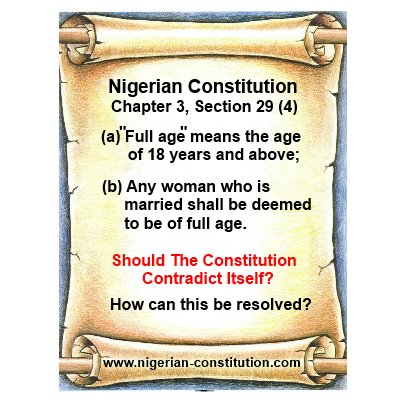 Contradiction in the Nigerian Constitution