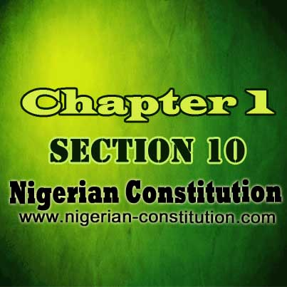 Chapter 1 Section 10, Prohibition of State Religion