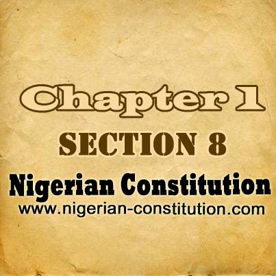 Chapter 1 Section 8. New States and Boundary Adjustment, etc.