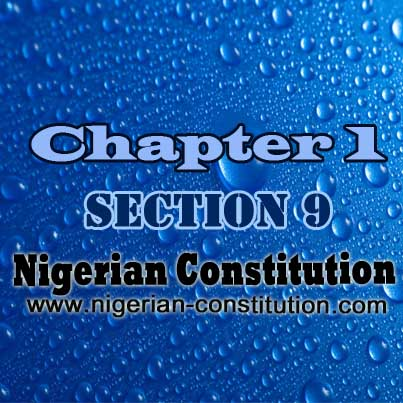 Chapter 1 Section 9 - Mode Of Altering Provisions Of The Constitution