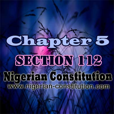 Chapter 5 Section 112