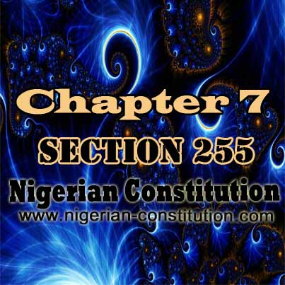 Chapter 7 Section 255