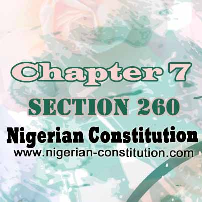 Chapter 7 Section 260
