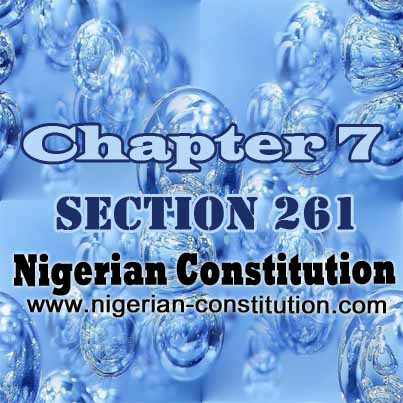 Chapter 7 Section 261