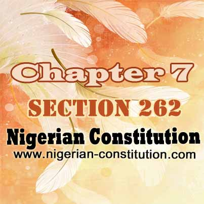 Chapter 7 Section 262