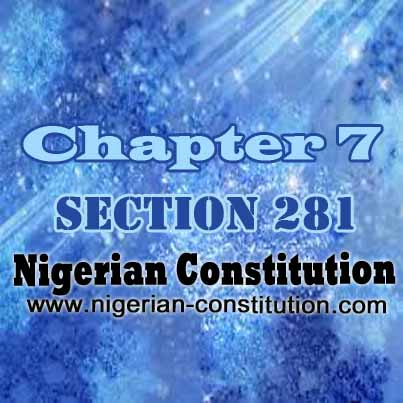 Chapter 7 Section 281