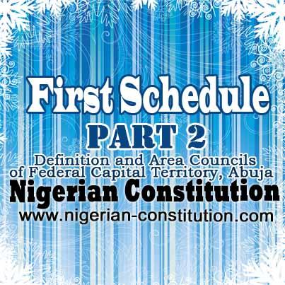 Schedule 1 Part 2