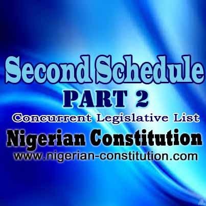 Schedule 2 Part 2