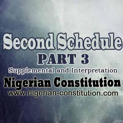 Schedule 2 Part 3