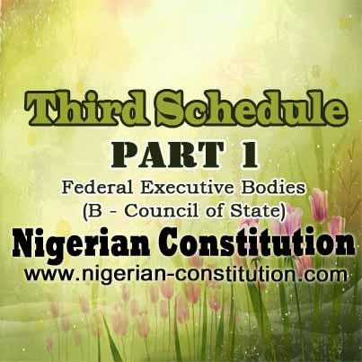 Schedule 3 Part 1 B