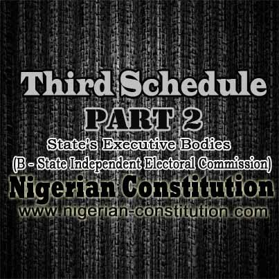 Schedule 3 Part 2 B