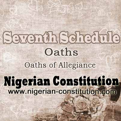 Schedule 7 Oaths Of Allegiance